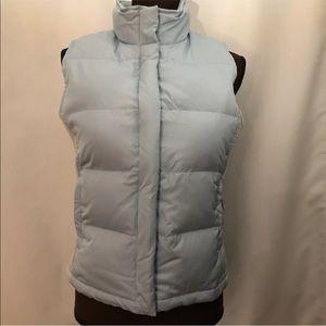 GAP Down Puffer Vest, Full Zip, Light Blue